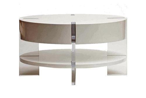 Lucite & Lacquer Coffee Table