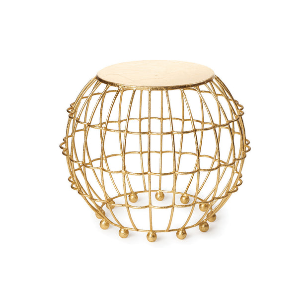 Gilded Cage Side Table/Stool