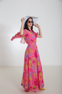 Flower Power Maxikleid Vintage