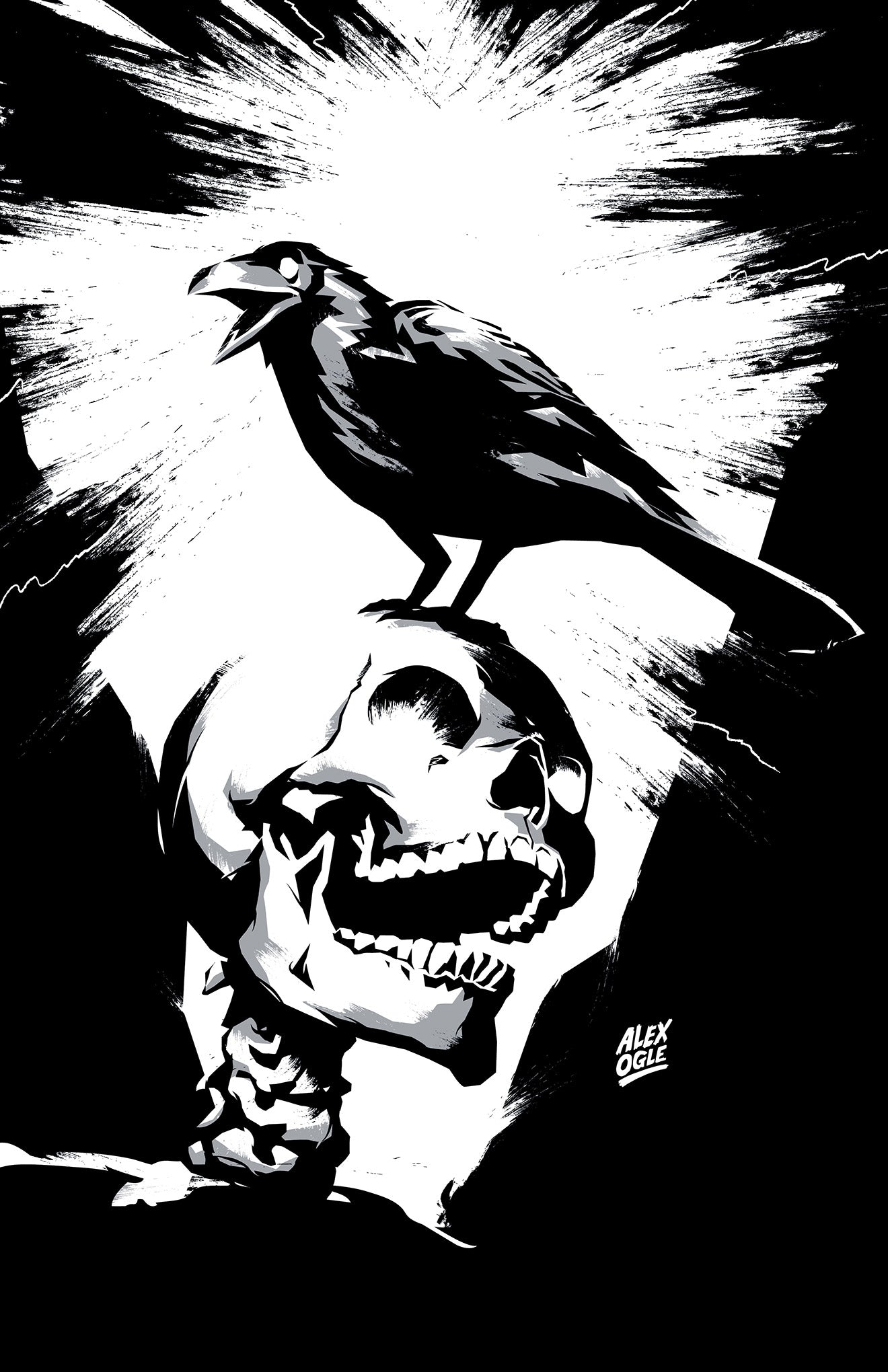 Skull and Raven