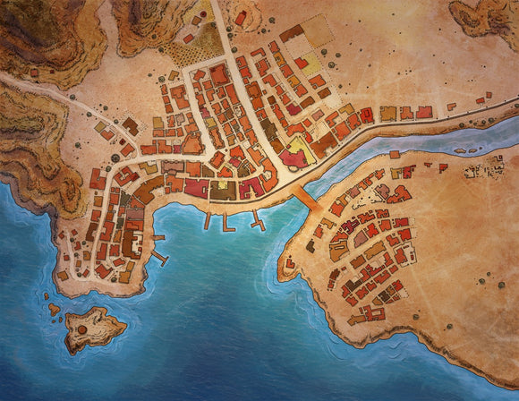 Aldmill City RPG Fantasy Map Gallery Canvas Alyssa Faden