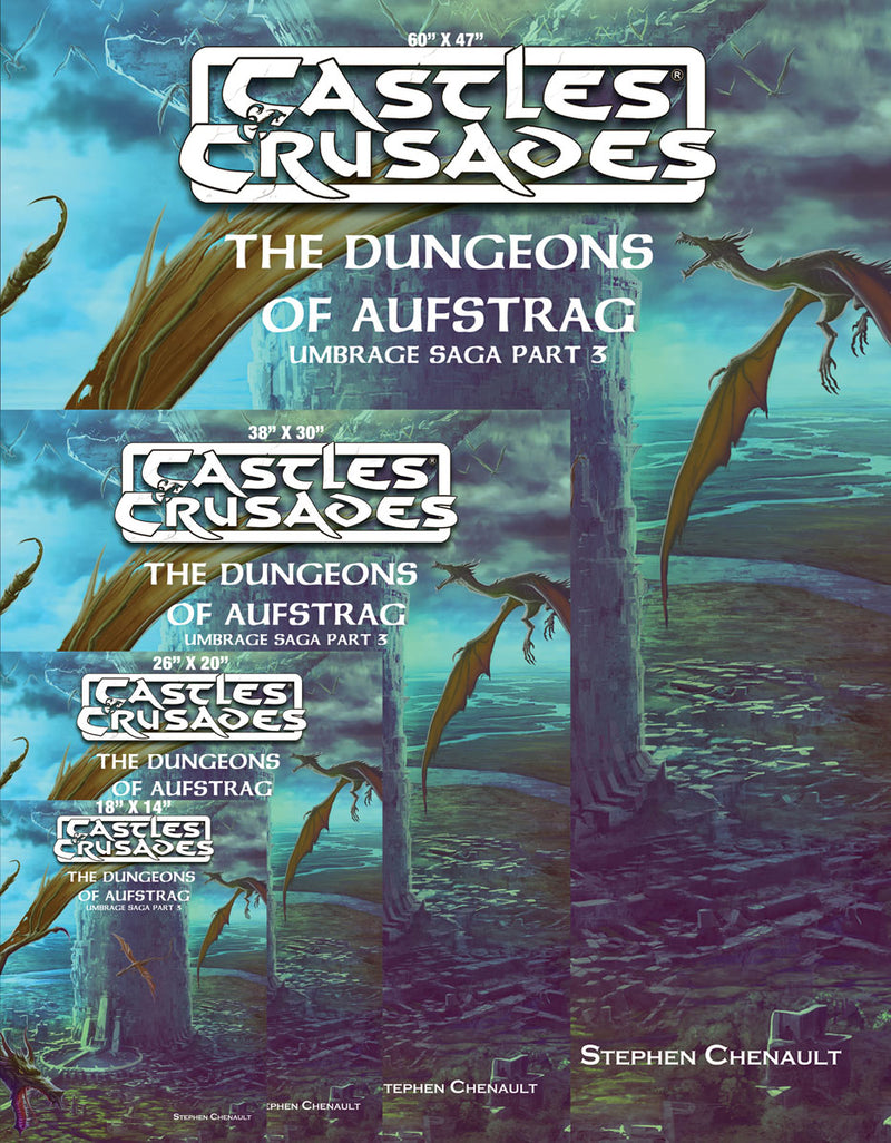 Castles & Crusades Cover - A13-A17 The Dungeons of Aufstrag Canvas Print
