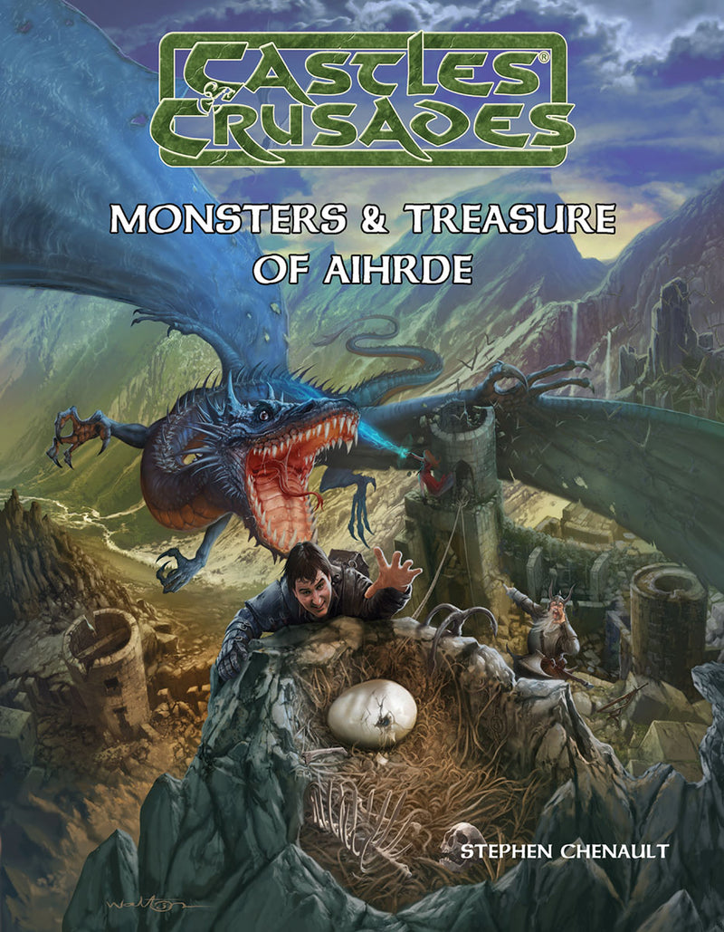 Castles & Crusades Cover - Monsters & Treasure of Aihrde Canvas Print