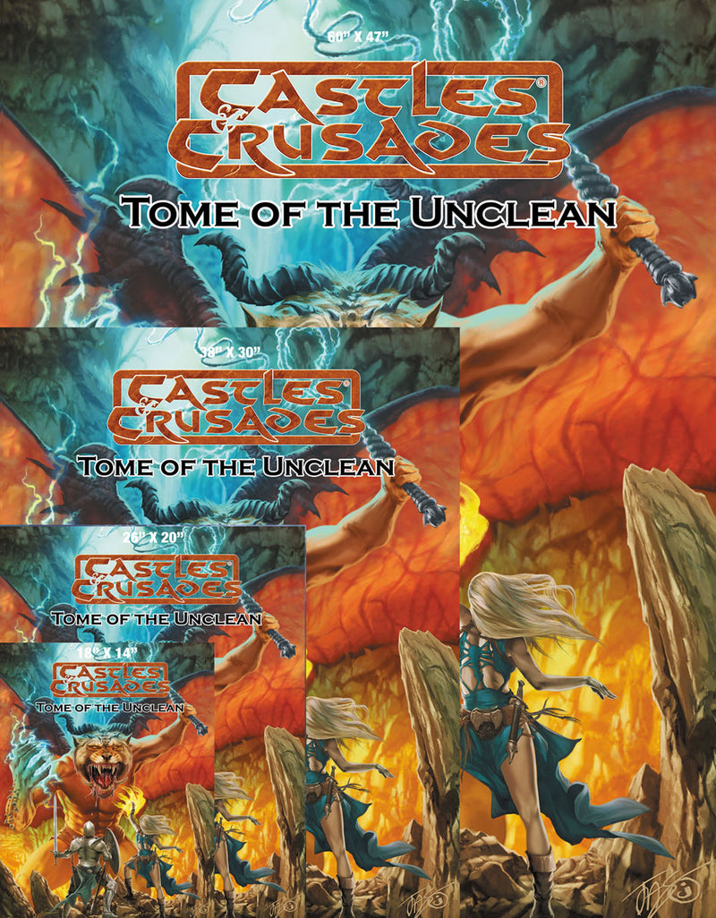 Castles & Crusades Tome of the Unclean Cover Gallery Canvas Print