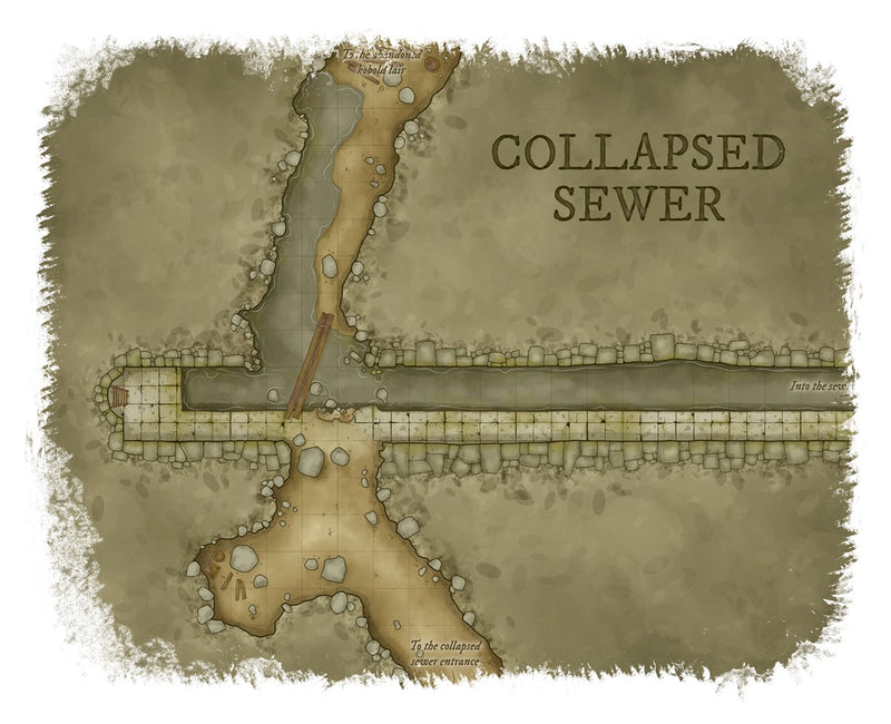 Collapsed Sewer Map Cotton T-Shirt