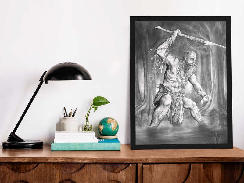 Cultist of the Great Crab Gallery Canvas Art Print