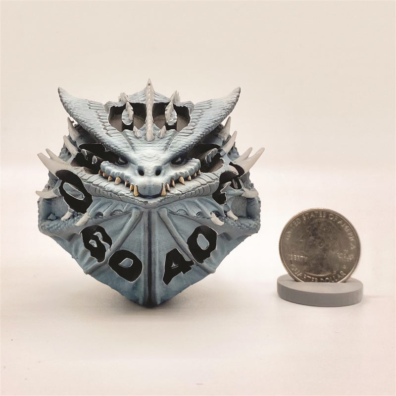 Medanix The White Percentile Dragon Dice Miniature Noble Dwarf Exclusive Primed