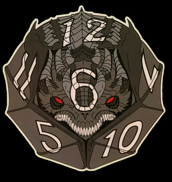 Bherisax the Black D12 Dragon Dice Vinyl Sticker