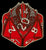 Scaldrus the Red D20 Dragon Dice Vinyl Sticker