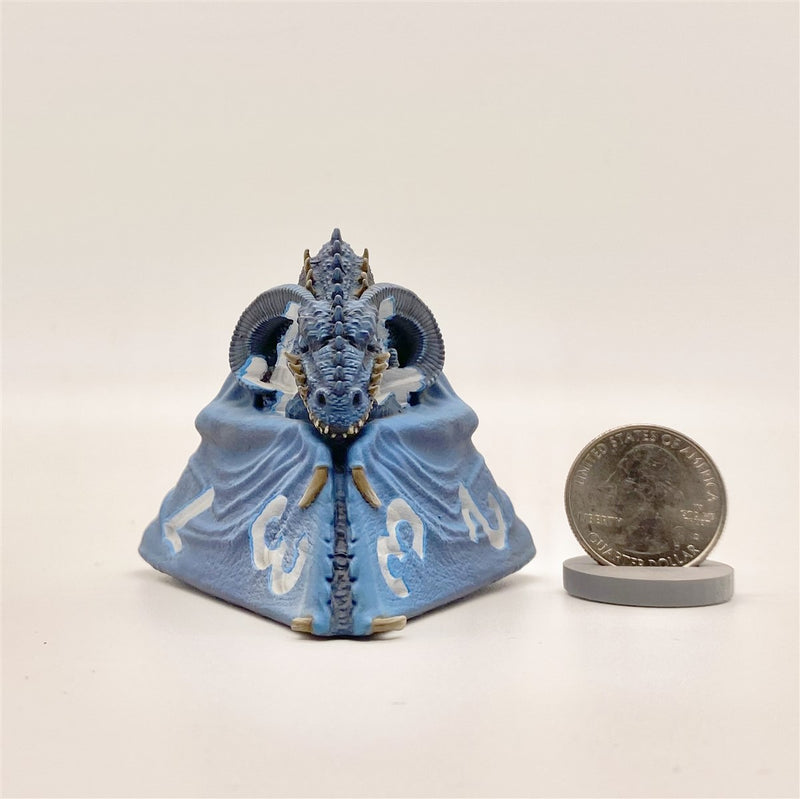 Tes'sera the Blue D4 Dragon Dice Miniature Noble Dwarf Exclusive Primed
