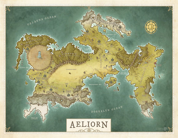 Aeliorn RPG Fantasy Map Gallery Canvas Daniels Maps