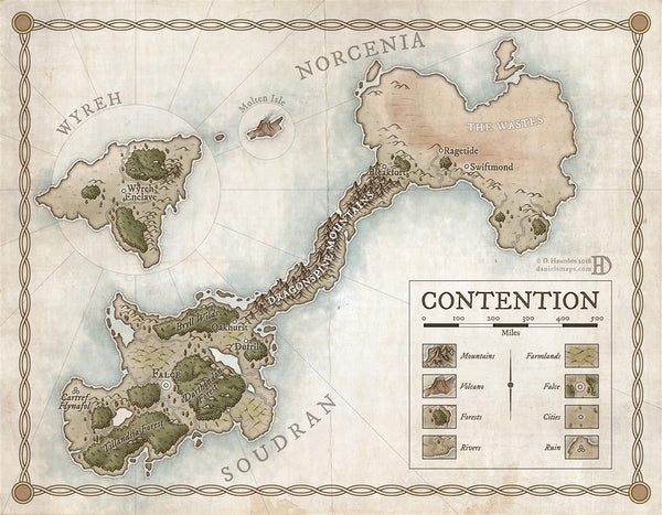 Contention RPG Fantasy Map Gallery Canvas Daniels Maps