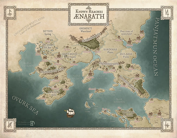 Aenarath RPG Fantasy Map Gallery Canvas Daniels Maps