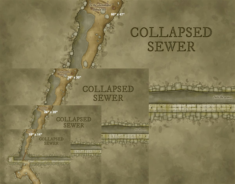 Collapsed Sewer Fantasy Map