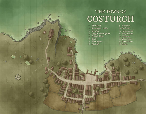 Costurch RPG Fantasy Map Gallery Canvas Daniels Maps