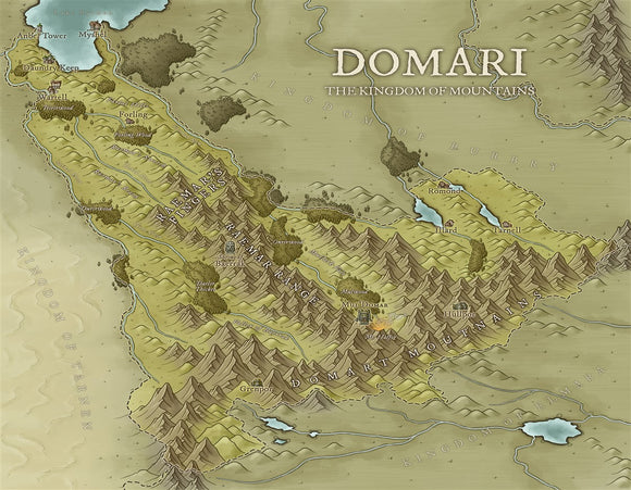 Domari RPG Fantasy Map Gallery Canvas Daniels Maps