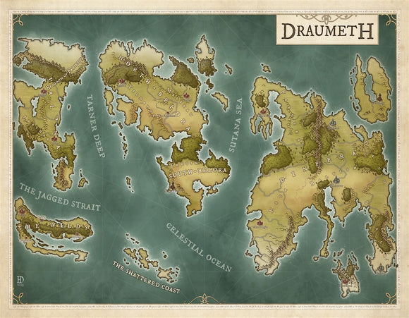 Draumeth RPG Fantasy Map Gallery Canvas Daniels Maps