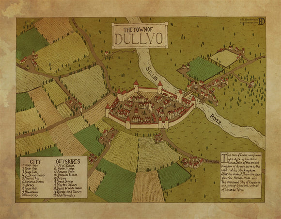 Dullvo RPG Fantasy Map Gallery Canvas Daniels Maps