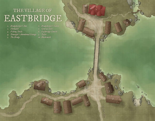 Eastbridge RPG Fantasy Map Gallery Canvas Daniels Maps