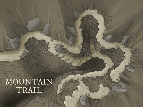 Mountain Trail Fantasy Map Gallery Canvas Art Print Daniels Maps
