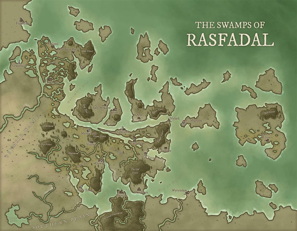 Rasfadal Fantasy Map Gallery Canvas Art Print Daniels Maps