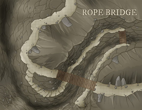 Rope Bridge RPG Fantasy Map Gallery Canvas Daniels Maps