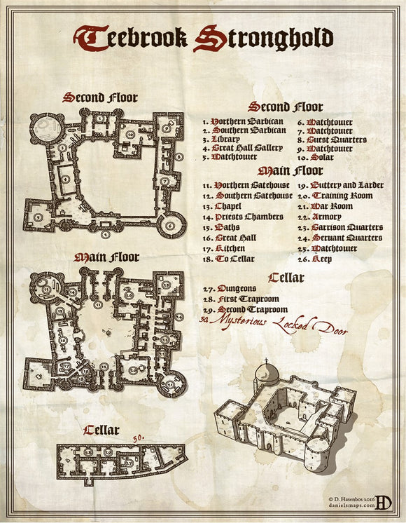 Teebrook RPG Fantasy Map Gallery Canvas Daniels Maps