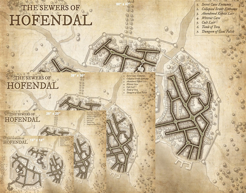 The Sewers of Hofendal Fantasy Map