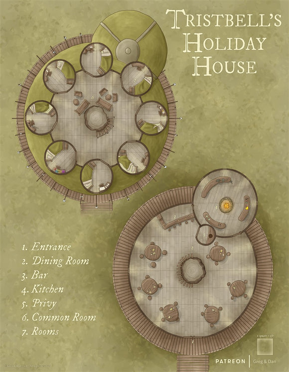 Tristbell's Holiday House RPG Fantasy Map Gallery Canvas Daniels Maps