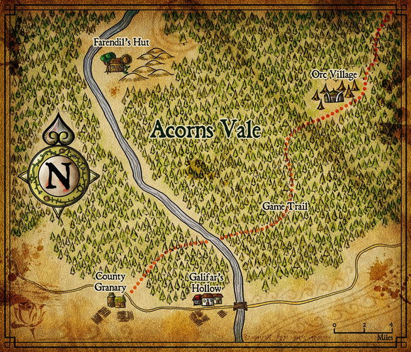 Acorns Vale Fantasy RPG Map Gallery Canvas Elven Tower