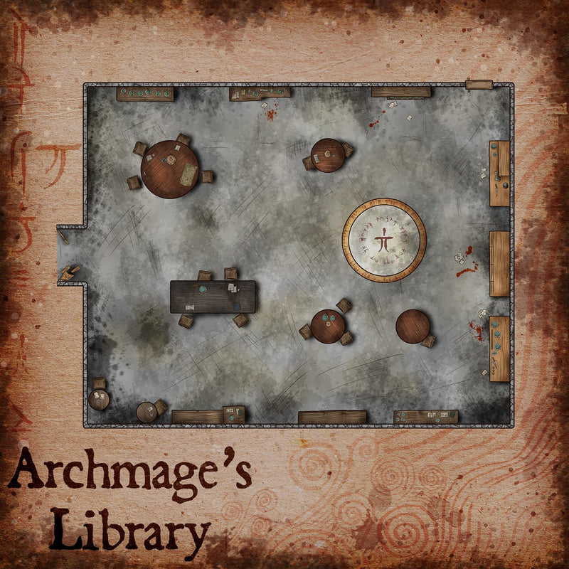 Archmage's Library Fantasy Map