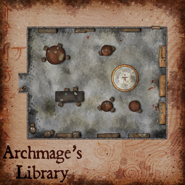 Archmage's Library Fantasy RPG Map Gallery Canvas Elven Tower