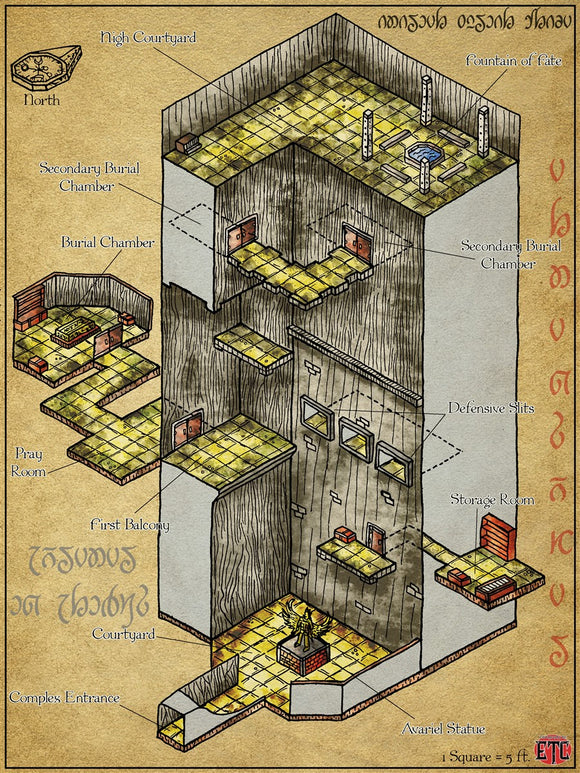 Avariel Complex Fantasy RPG Map Gallery Canvas Elven Tower