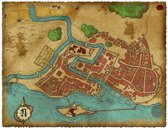 Bay City Fantasy RPG Map Gallery Canvas Elven Tower