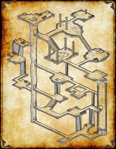 Beholder Lair Fantasy RPG Map Gallery Canvas Elven Tower