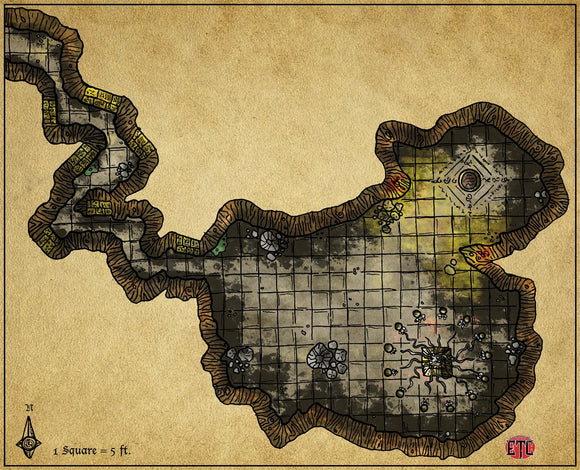Bewitched Altar Fantasy RPG Map Gallery Canvas Elven Tower