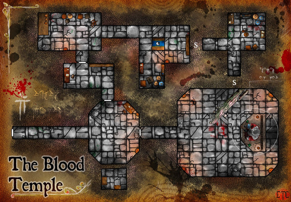Blood Temple Fantasy RPG Map Gallery Canvas Elven Tower