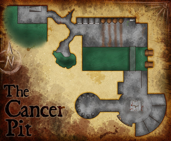 Cancer Pit Fantasy RPG Map Gallery Canvas Elven Tower