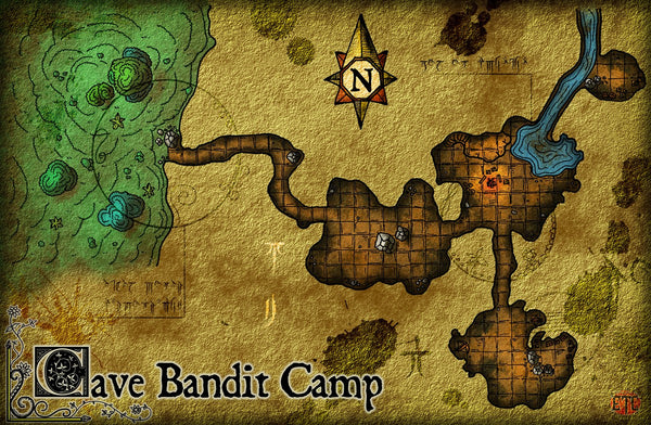 Cave Bandit Camp Fantasy RPG Map Gallery Canvas Elven Tower