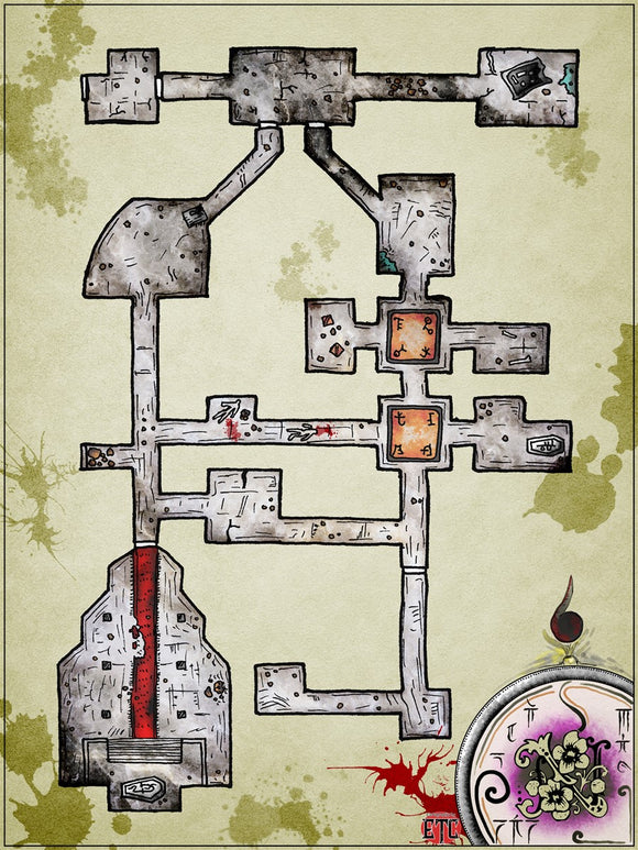 Coffin of Hate Fantasy RPG Map Gallery Canvas Elven Tower