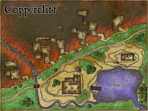 Coppercliff Fantasy RPG Map Gallery Canvas Elven Tower