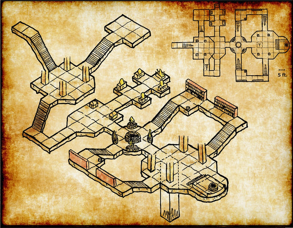 Cult Temple Fantasy RPG Map Gallery Canvas Elven Tower