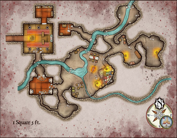 Cultist Hideout Fantasy RPG Map Gallery Canvas Elven Tower