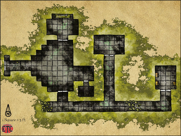 Cursed Crypt Fantasy RPG Map Gallery Canvas Elven Tower