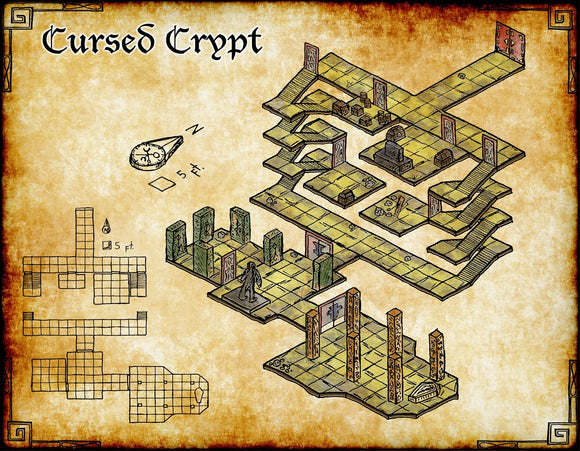 Cursed Crypts Fantasy RPG Map Gallery Canvas Elven Tower