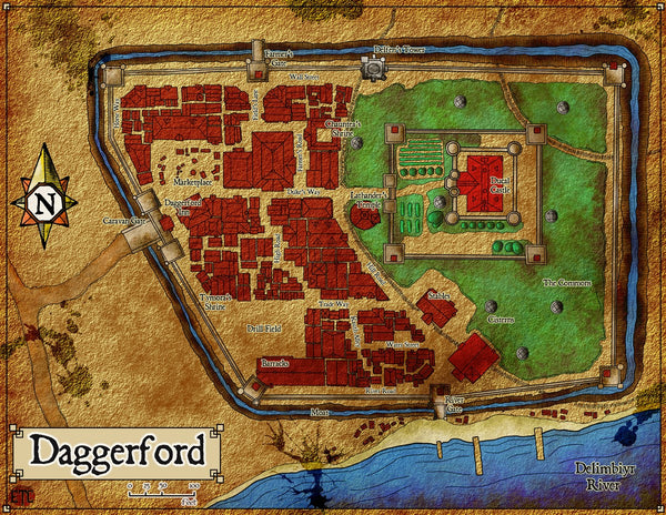 Daggerford Fantasy RPG Map Gallery Canvas Elven Tower