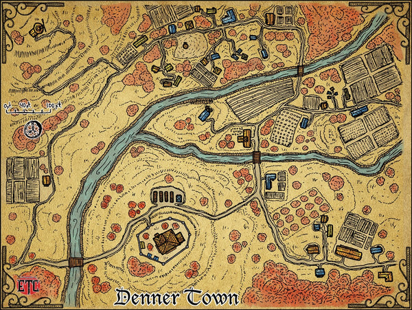 Denner Fantasy RPG Map Gallery Canvas Elven Tower