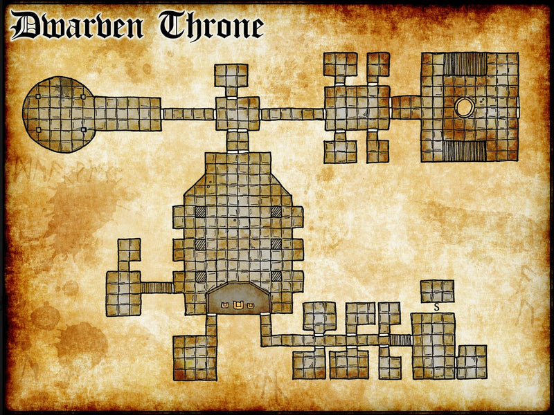 Dwarven Throne Room Fantasy Map