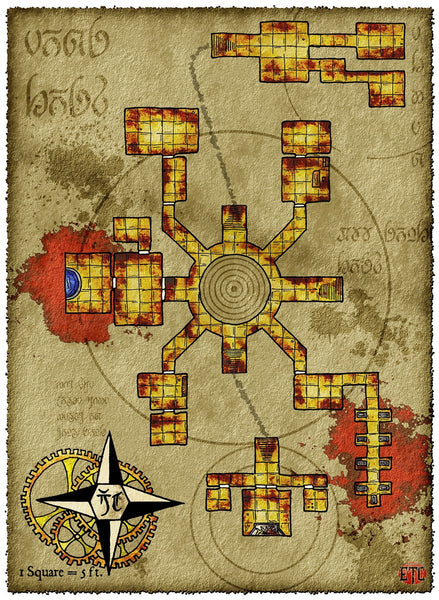 Eon Lost Crypt Fantasy RPG Map Gallery Canvas Elven Tower