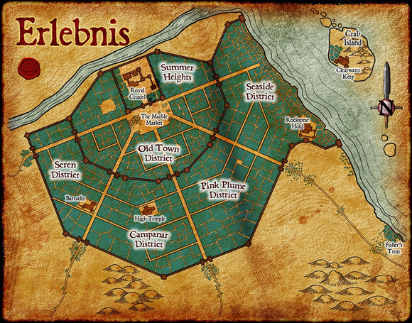 Erlebnis Fantasy RPG Map Gallery Canvas Elven Tower